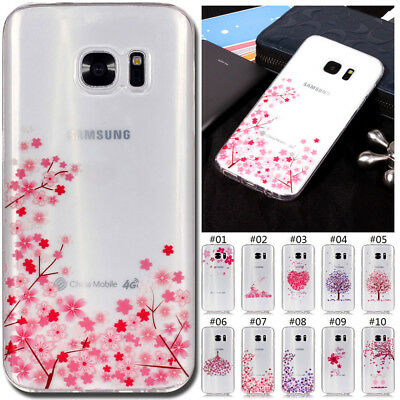 For Samsung Galaxy S5 S6 S7 Edge S8 9 Plus Silicone TPU Gel Soft Cover Skin Case