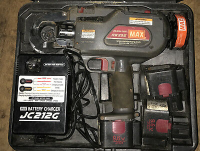 RB395 Tool Kit Max Re-bar-tier w/ 3 batteries 2 wire Tye Tool Battery Charger