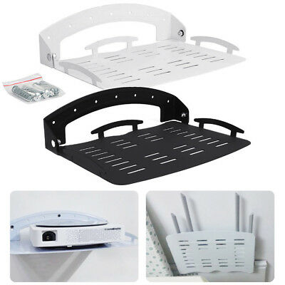 Foldable Wall Mount Bracket Storage Shelf Holder for Router TV Box PC DVD Player