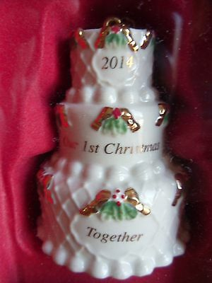 Lenox 2014 Our 1st Christmas Together Ornament NEW