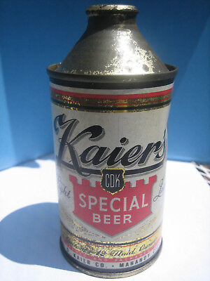 "Kaier's ""Special Beer"" Cone Top Can-Empty-Pennsylvania Can - Wall Find-Nice One"