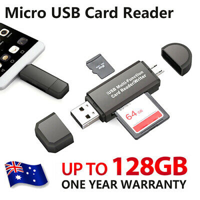Micro USB 2.0 OTG Card Reader For Samsung Android  PC Mobile Phone AU