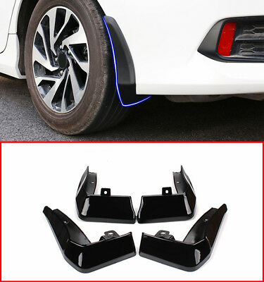 4PCS Black Front Splash Guards Mud Flaps Fenders For Honda CIVIC 2016-2017 2018