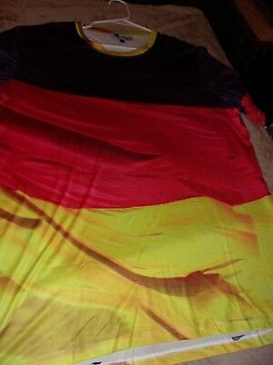 Germany,German Flag Color T-Shirt,. Sz.XXL. Light Weight.Black,Red,Gold.