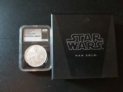 2016 Star Wars Classic Han Solo 1 oz Silver $2 NGC PF70 UC Black With OGP