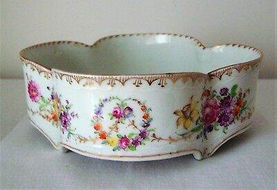 Vintage Footed Dresden China Bowl - 100 Years Old