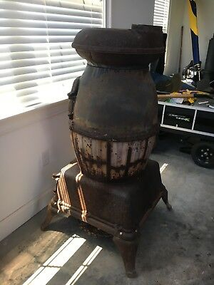 US Army Cannon Heater #20...Cast Iron Pot Belly Stove....very old and very rare!