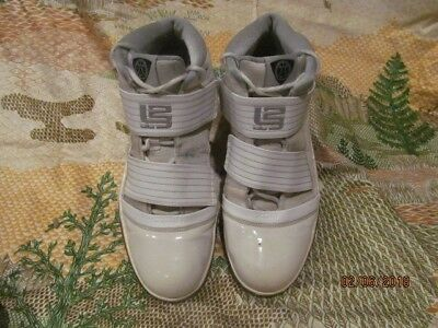 cb52eb5df12 White Nike Lebron James Zoom Soldier III TB 367183 Basketball Shoes Sz 14