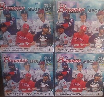 (LOT OF 4) 2018 Bowman Mega Box Target Exclusive Factory Sealed OHTANI ? SOTO ?
