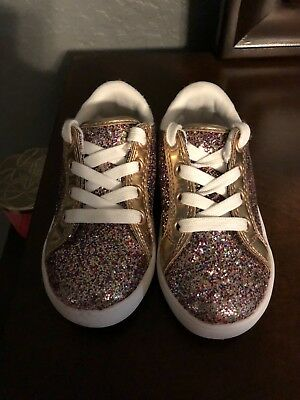 Carter's Emilia Toddler Girls' Sneakers, Size: 8T, Pink/Gold Glitter