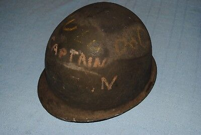Original WW2 U.S. Helmet Shell w/ Chinstraps
