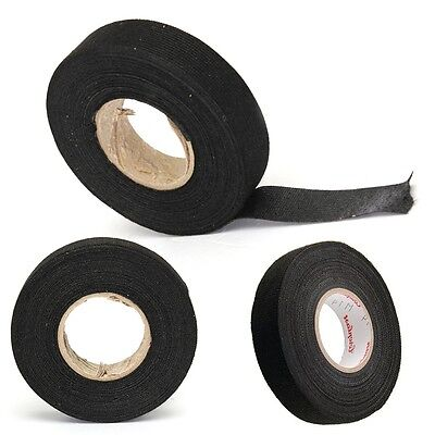 19mm x 15M Looms Cars Wiring Harness Tape Strong Adhesive Cloth Fabric Tape
