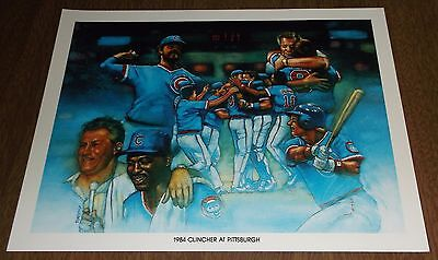 1984 Unocal Chicago Cubs Illustration Print - 1984 Clincher at Pittsburgh