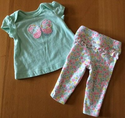 f0aa798f9 Carter's Child of Mine Newborn Baby Girl 2 Pc. Top & Pants Outfit Set