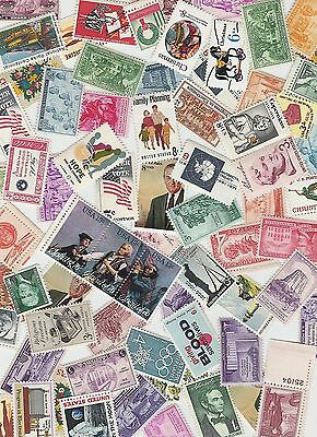 Lot of 50 All Different MINT US Postage Stamps- MNH Vintage Packet, unused