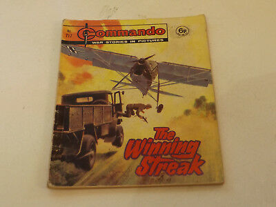 Commando War Comic Number 717!,1973 Issue,good For Age,45 Years Old,very Rare.