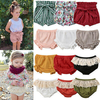 Toddler Newborn Kids Baby Girls Cotton PP Bloomer Shorts Pants Elastic Buttoms