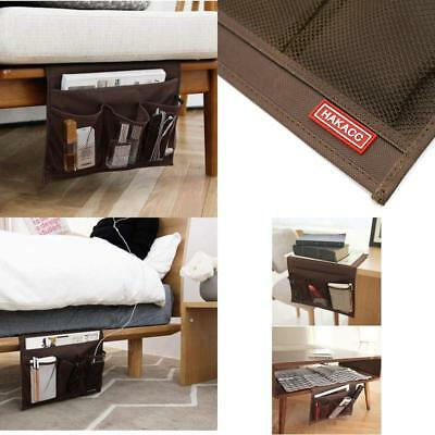 Bedside Storage Organizer Couch Remote Control Caddy Bed Holder Pockets Brown