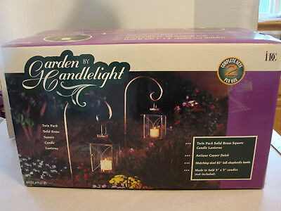 2 Garden by Candlelight Outdoor Candle Lanterns NIB Model 9161-05