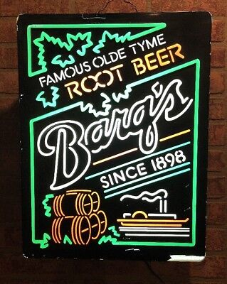Rare Vintage Barqs Root Beer Lighted Advertising Sign / Soda