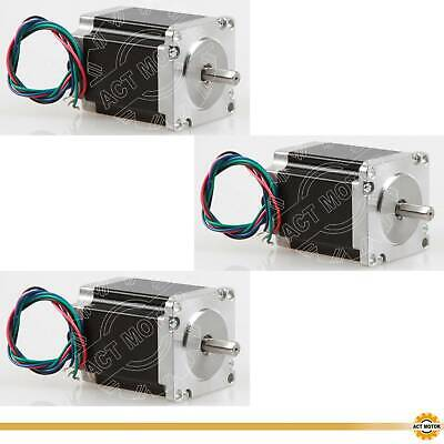ACT MOTOR GmbH 3PCS Nema23 Stepper Motor 23HS8430D8P1-5 3A 1.9Nm φ 8mm D-Shaft