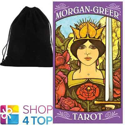 Morgan Greer Tarot Deck Cards Esoteric Us Games Systems With Velvet Bag New