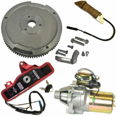 Electric Start Kit Flywheel Starter Motor Fit Honda GX340 GX390 Engine&Generator