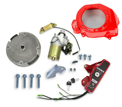 Electric Start Kit Starter Motor Flywheel Ignition For Honda GX160/200 5.5/6.5HP