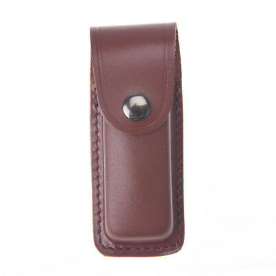 13cm x 5cm knife holder outdoor tool sheath cow leather for pocket knife pouchWH