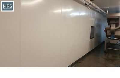 Hygienic Cladding solid PVC wall sheets in white satin 2.4m x 1m x 1.5mm