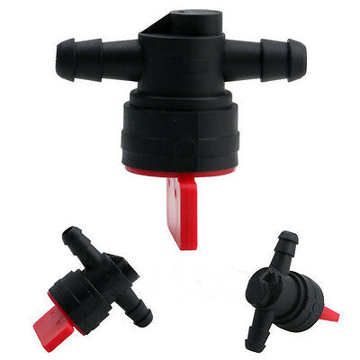 "1/4"" InLine Straight Fuel Gas Cut-Off / Shut-Off Valve Petcock Motorcycle cs"