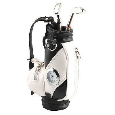 Durable Pen Holder Golf Bag with Golf Club Pens and Clock - By TRIXES