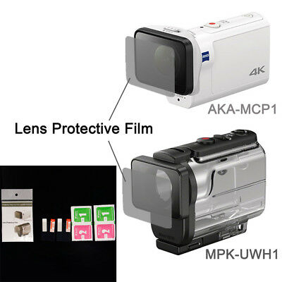 Clear Lens Protector Film For AKA-MCP1 MPK-UWH1 For Sony Action Cam HDR-AS300r