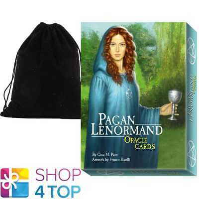 Pagan Lenormand Oracle Cards Deck Tuan Esoteric Lo Scarabeo With Velvet Bag New