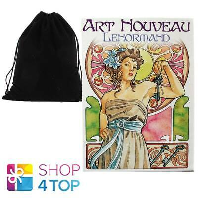 Art Nouveau Lenormand Oracle Cards Deck Esoteric Lo Scarabeo With Velvet Bag New