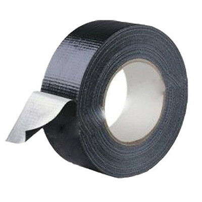 """Waterproof Black Highly adhesive Heavy Duty Gaffer Cloth Duct Tape 4.8cm*9mnew"""""""