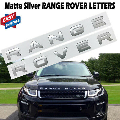 Matte Silver RANGE ROVER LETTERS HOOD TRUNK TAILGATE EMBLEM BADGE NAMEPLATE NEW
