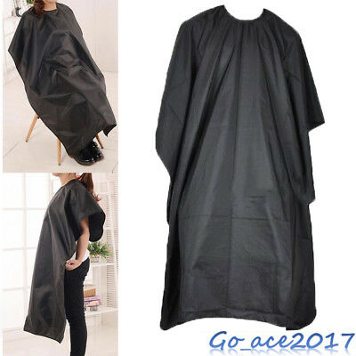 Salon Barber Hair Cutting Cape Hairdresser Hairdressing Gown Cover Apron Black
