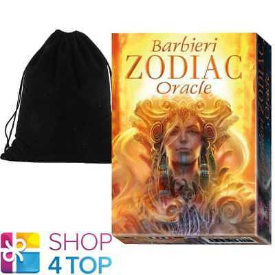 Barbieri Zodiac Oracle Cards Deck Esoteric Lo Scarabeo With Velvet Bag New