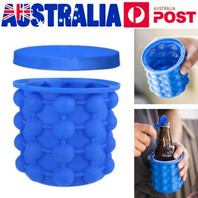 Ice Cube Maker Genie Silicone Ice Bucket Dual-use Revolutionary Space Saving AU