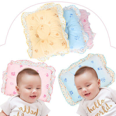 UK Anti Flat Newborn Baby Infant Pillow Support Cushion Head Soft Velvet Cotton