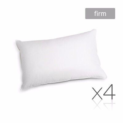 Family 4 Pack Bed Pillows Firm Cotton Cover 48X73CM Brand New