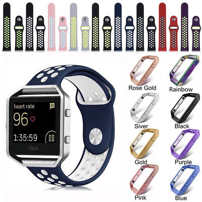 Replacement Sport Silicone  Strap Band + Frame for Fitbit Blaze Fitness Watch AU