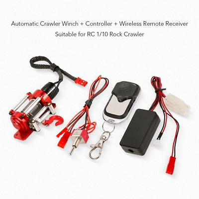 1/10 RC Crawler Car Stahl Wired Winde Control System + Remote Receiver Sets W9E3