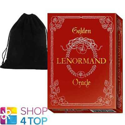 Golden Lenormand Oracle Cards Deck Gold Foil Lo Scarabeo With Velvet Bag New