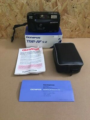 Olympus Trip AF-S2 Vintage 1990s Compact 35mm Point & Shoot Film Camera in Black