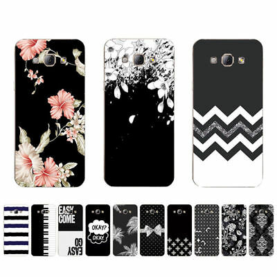 Ultra Thin Soft TPU Case For Samsung Galaxy Protective Back Cover Skins B&W