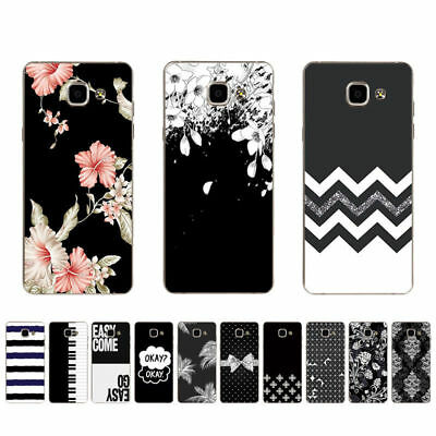 Ultra Thin Soft TPU Case For Samsung Galaxy J3 J5 2016 2017 Back Cover B&W