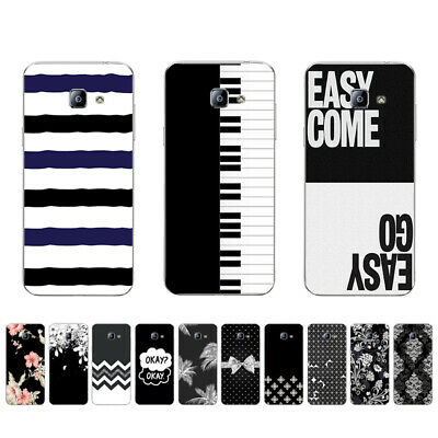 Soft TPU Case For Samsung Galaxy S4 S6 S7 Edge Plus Silicone Back Cover B&W
