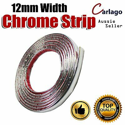 12mm Chrome Styling Auto Van Window Bumper Edge Cover Adhesive Moulding Strip 8M